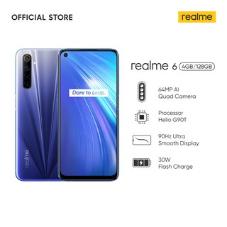 realme 6 4/128GB [64MP AI Quad Camera, Helio G90T, 4300 mAh Battery, 30W Flash Charge, 90Hz Display]