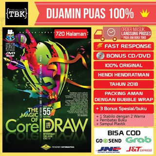 BESTSELLER Buku The Magic of CORELDRAW Revisi Terbaru Plus DVD - Hendi Hendratman