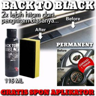 Back to black Penghitam plastik permanen 115ml