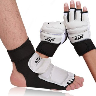 Techdoo Taekwondo Hand & Foot Gloves Set Sarung Tangan Kaki Tae Kwon Do Tinju training Setengah Jari