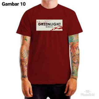 Kaos distro greenlight merah maroon