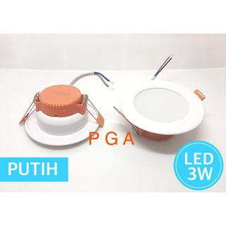 Lampu Downlight LED 3W  Putih / Daylight