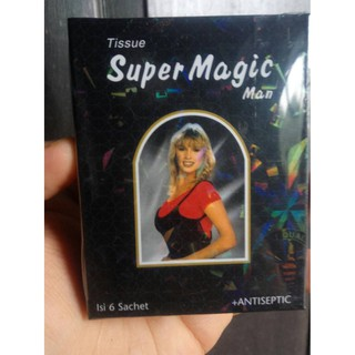 Tissue / Tisu Super Magic Man Kemasan Hitam Depkes