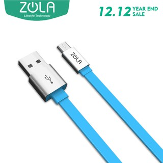 Kabel Data Micro USB ZOLA Smrfs 100cm Fast Charge 2A - Biru