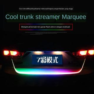 Car decoration lamp colorful tailcase streamer lamp led horse running lamp steering brake modification trunk rear-end collision prevention