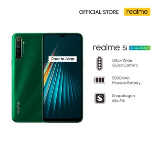 realme 5i 4/64GB [5000mAh Massive Battery, Ultra-Wide Quad Camera, Snapdragon 665 AIE]