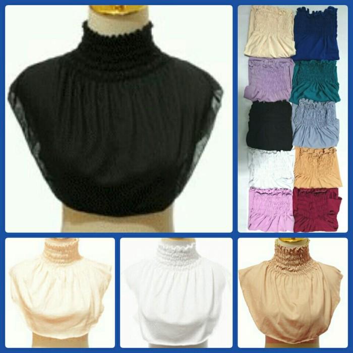 Dalaman Inner Hijab Manset Leher Motif Kerut Gms001