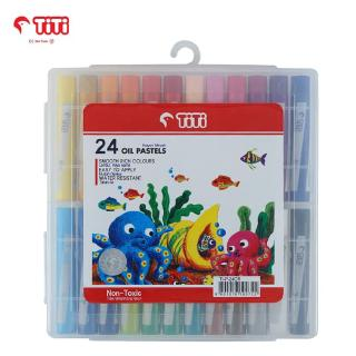 Oil Pastel / Krayon Minyak TiTi TI-P-24CR / 24 Warna / Colors