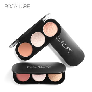 FOCALLURE Trio Blush Highlight & Contour (New)