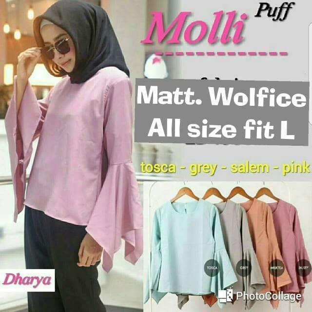 FF2784 Atasan hijab model baru : Molli Puff