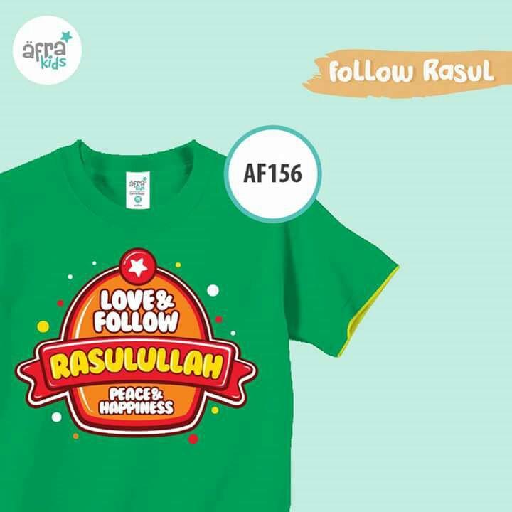Kaos Anak Muslim Afrakids – AF156 (Size: S) – HARGA SPESIAL NEPROLAZAN
