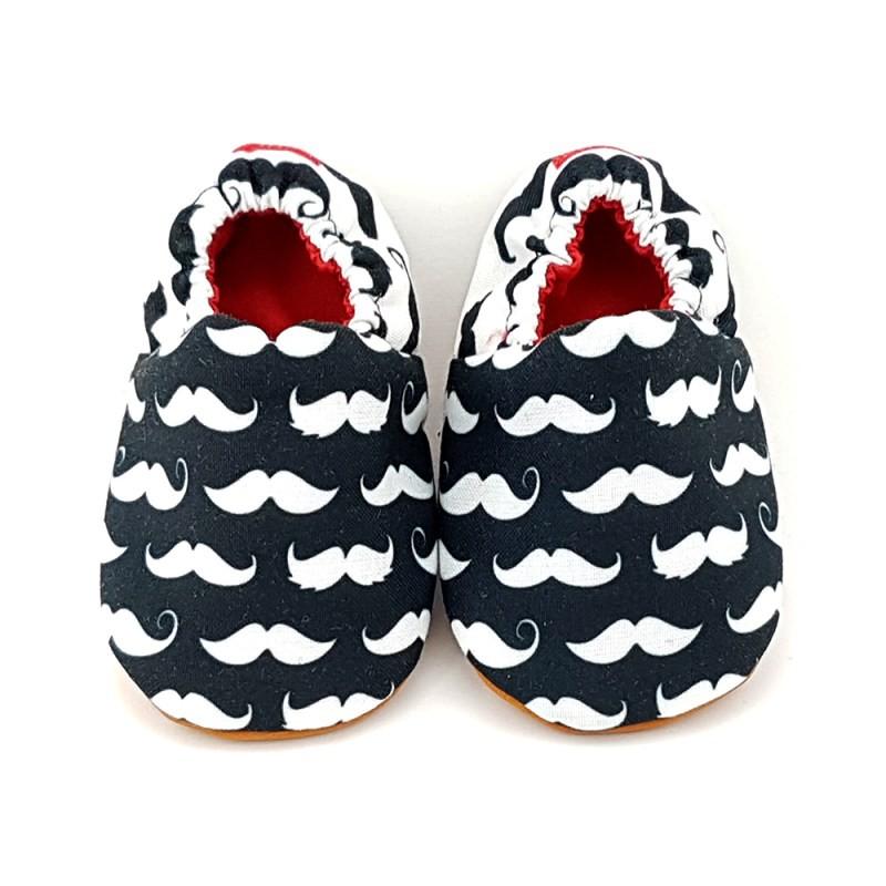 Petita Petito Moustache - Sepatu Prewalker Baby