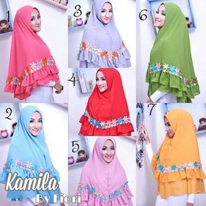 Hijab Kerudung Murah Meriah Fiori Kamila Khimar Kamila Renda Instan Kamila Renda Jlb11 Bahan Jatuh