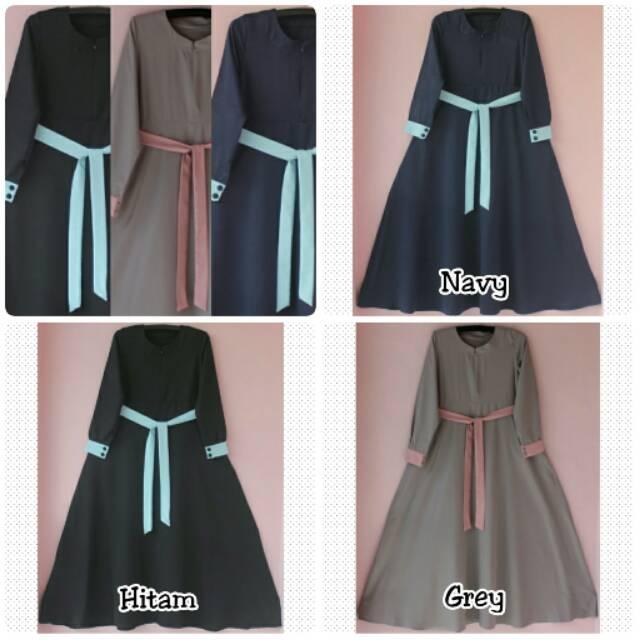 Dress/Gamis Baloteli Zygna _ Hijab _ Gamis Only