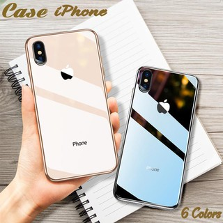 Luxury Tempered Glass Mirror Plating Phone Case Cover For iPhone XS Max XR X 8 7 6 6s Plus
