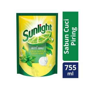 Sunlight Anti Bau Jeruk Nipis & Mint Pouch Refill 755Ml