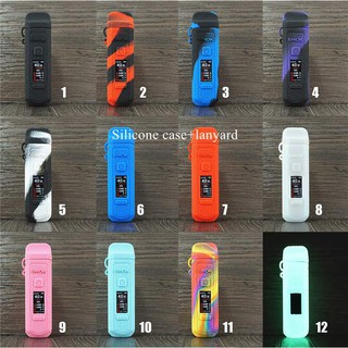 Silicone Cover for Smok RPM40 Pod smok rpm 40 40wProtective Rubber Sleeve Skin with the lanyard