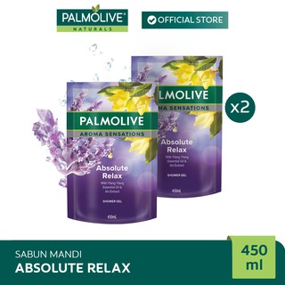 Palmolive Aroma Theraphy Absolute Relax Shower Gel/Sabun Mandi 450 ml x2