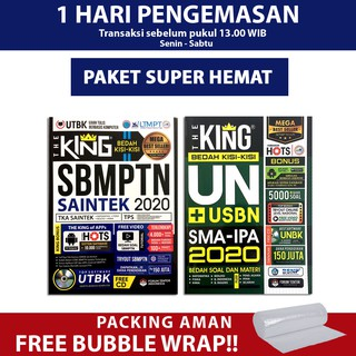 PAKET HEMAT 2020 THE KING BEDAH KISI KISI UN SMA IPA + THE KING SBMPTN SAINTEK