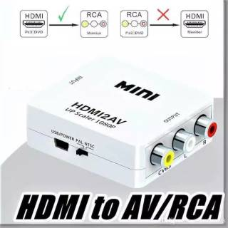 Adapter Converter HDMI 1080P to AV / CVSB L / R Video HDMI to Monitor dan Tv