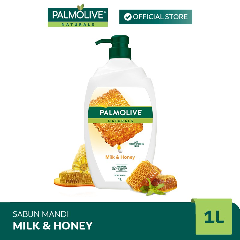 Palmolive Naturals Milk & Honey Shower Gel/Sabun Mandi Susu 1L #0