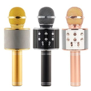 Mic Mix Karaoke Bluetooth Wireless Microphone WS 858 Karaoke Speaker WS858 KTV Best Quality