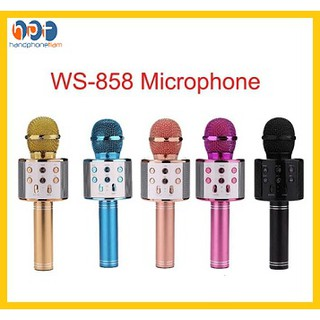 MIC WSTER WS 858 Wireless Bluetooth Karaoke + speaker Microphone portable