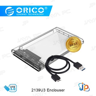 ORICO Casing External Portable 2139U3 2.5 Sata USB 3.0 Enclosure Transparent HDD SSD Case
