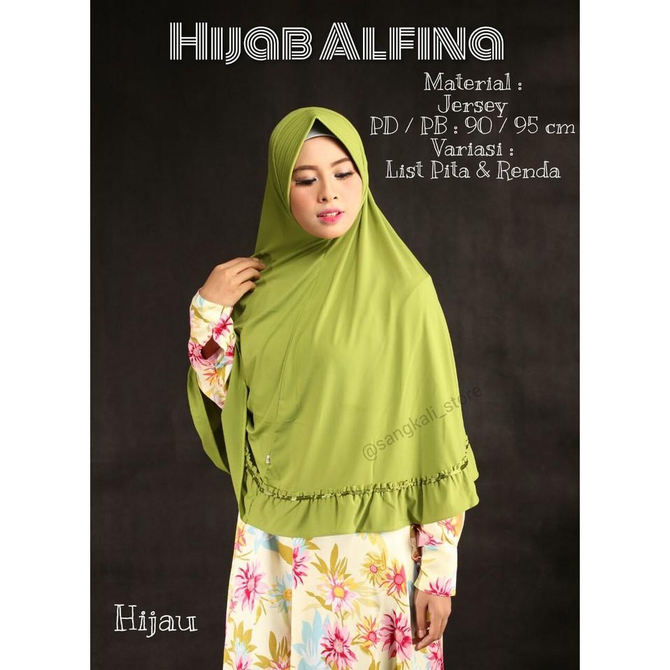hijab desain baru jilbab syari kerudung instan alfina gmsskl01
