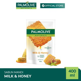 Palmolive Naturals Milk & Honey Shower Gel/Sabun Mandi 400 ml