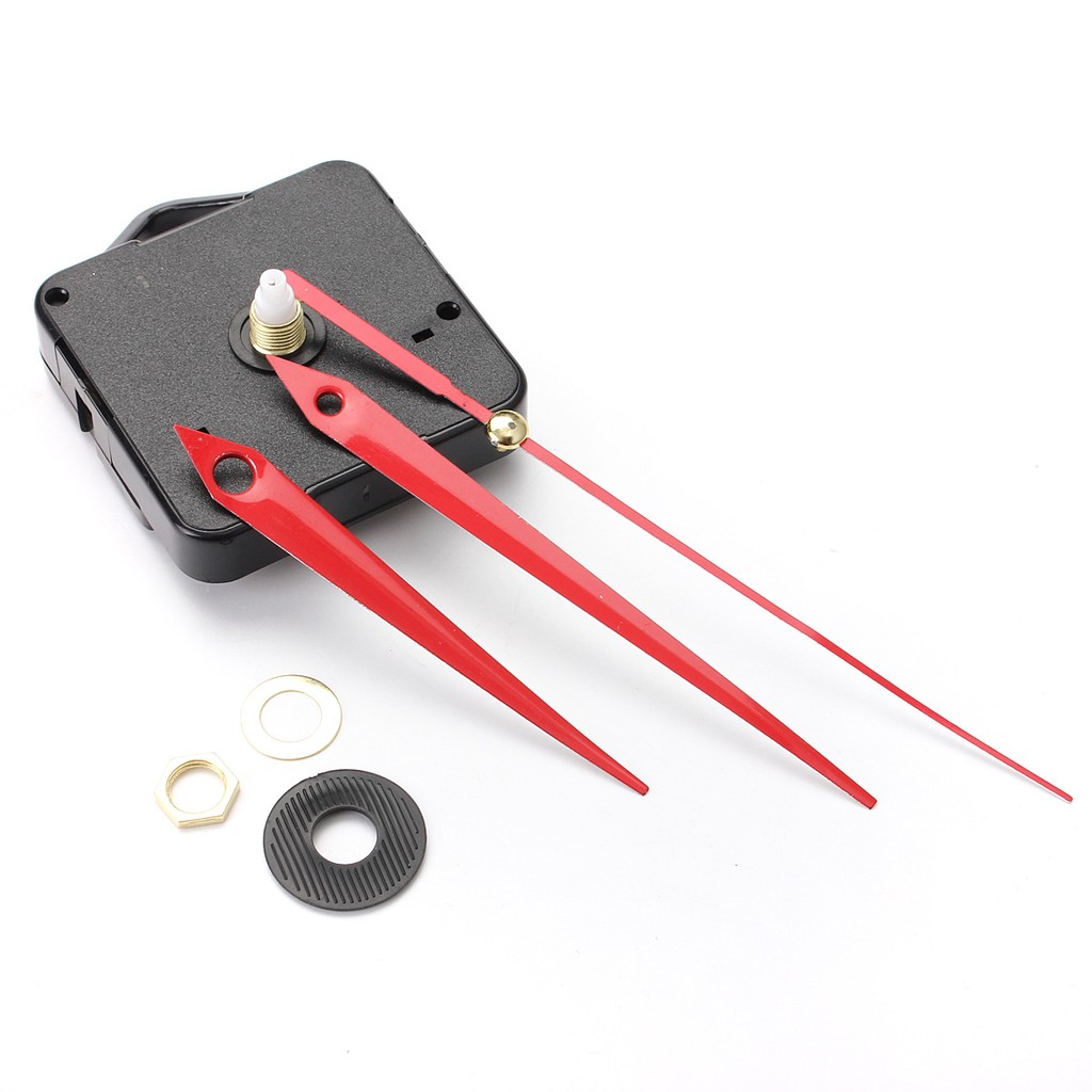 Silence Red Triangle Hands DIY Quartz Clock - Spindle Movement Mechanism Repair