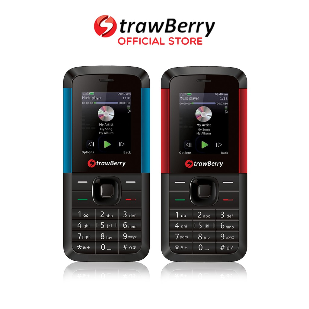Strawberry - Maike / Handphone Candybar / HP Kamera  Murah /  Bluetooth / HP Musik