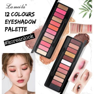 [ORI] 12 Warna Eyeshadow Lameila 12 Colour Palette Eyeshadow Nude Color Eyeshadow Termurah Make up