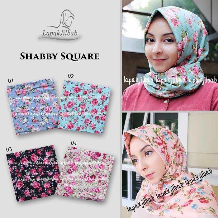 Hijab Segi Empat Murah Meriah Shabby Square Jbls Bahan Halus