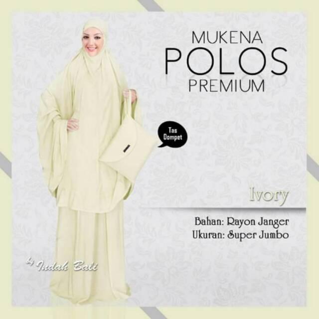 Mukena Bali Polos Premium Ivory