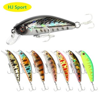 55mm 6.5g Fishing Lures Inner Lead Minnow Wobbler Siwmbait