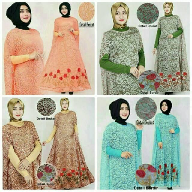 KAFTAN Raisa Dress Gamis Pakaian Muslim Wanita BRUKAT
