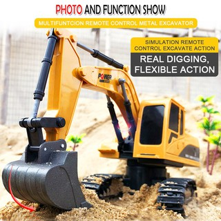 258-1 1 / 24 6CH 2.4G Remote Control Mobil Excavator Multifungsi