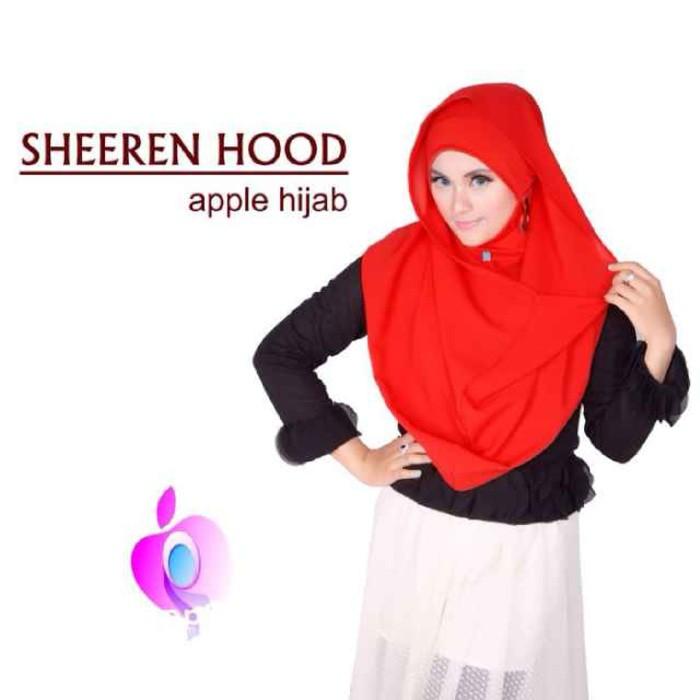 PROMO Jilbab Shireen Hood Free Earing by Apple Hijab STOK-ADA