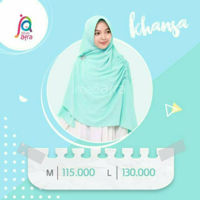KHANSA (Khimar antem serut jilbab afra)