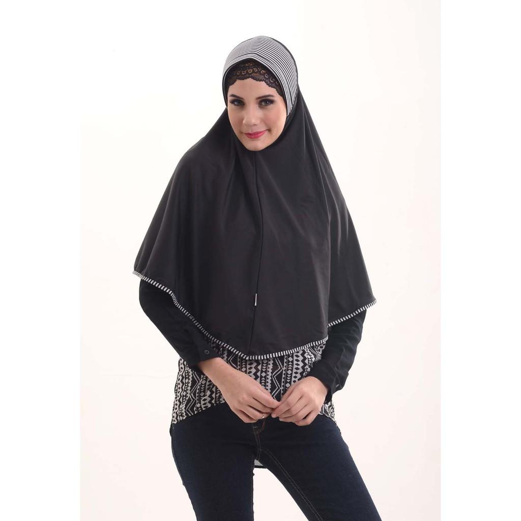 Hijab / Jilbab IH Bergo Salur Black
