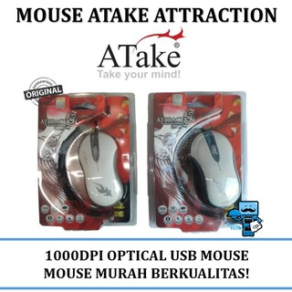 Mouse USB Optical Atake Attraction - High Quality 1000 DPI Mouse