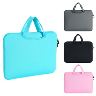 Tas Laptop Shockproof Ukuran 11/12/13.3/14/15.6 Inch Warna Polos