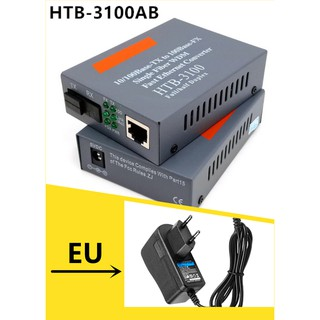 HTB-3100A / B Konverter Fiber Optikal 10 / 100Mbps RJ45 Single Mode One Optical