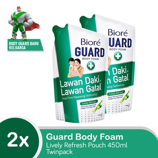Biore Guard Body Foam Lively Refresh Refill 450mL x 2