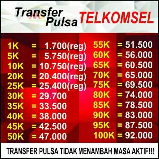 ISI ULANG PULSA TRANSFER  TELKOMSEL SIMPATI AS  20rb 25rb 30rb 50rb 100rb 150rb