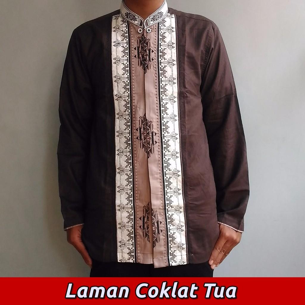 spesial Baju Koko Muslim Pria Dewasa, Bordir Modern Me.004 – Lengan Panjang