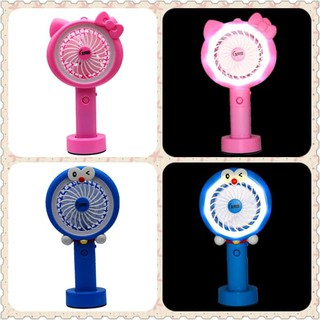 Kipas Angin Lampu Led Hand Mini Fan Usb Portable Karakter TS