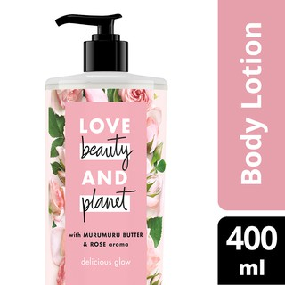 Love Beauty & Planet Delicious Glow, Murumuru Butter & Rose Body Lotion 400Ml