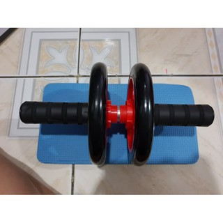 AB WHEEL - Ab roller double wheel / Alat sit up / alat gym